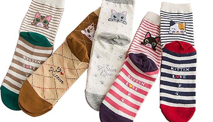 cat socks, kitten novelty socks, kitten socks, women's cat socks, Fun socks, Cotton socks, Cat Socks, Kitten Love Socks, Kitten Gift Socks