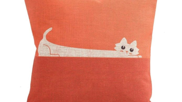 cat pillow cover, orange cat, bedroom, living room, office, cat, pillow sham