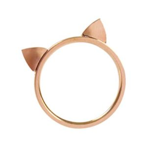 womens ring, mens ring, lgbt ring, cat jewelry, lgbt jewelry, rose gold ring, thin ring, delicate ring, cat lover, teen jewelry, gift idea