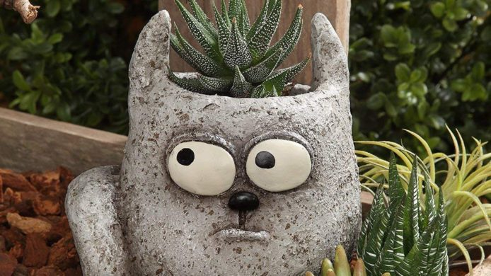 home decor, cats, cat decor, office decor, garden decor, cat garden statue, patio decor, cat succulent planter
