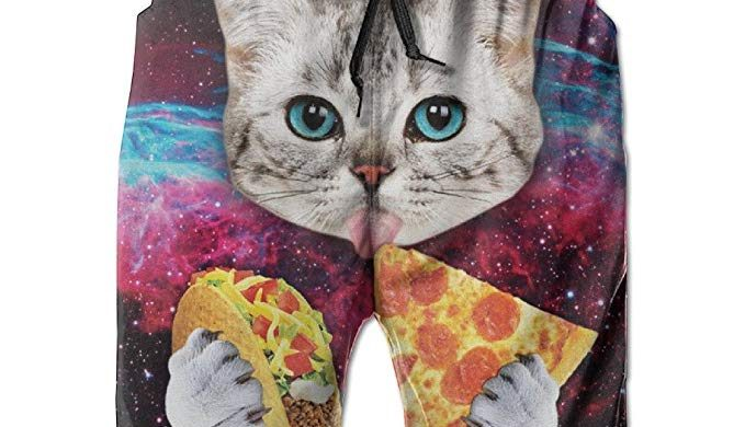 4ba23abfc5 Galaxy Taco Cat Pizza Cat Men's Swim Trunks, Board Shorts, Swimwear