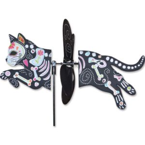 Day Of Dead, Dia De Los Muertos, Sugar Skull, Zombie Cat, black cat, Halloween decoration, Yard, Lawn Stake, Yard Spinner