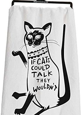 cat tea towel, cat towel, cat dish towel, cat kitchen towel, cartoon cat, funny, cat humor