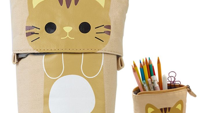 cat, cats, cat lover, pencil case, pencil pouch, kitty, black cat, orange cat, tabby cat, tiger cat, white cat, gray cat, dorm room, desk, art student, kids, art organizer
